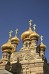 Israel, Jerusalem, Russian Orthodox Church of Mary Magdalene on the Mount of Olives