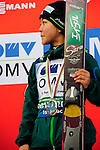 HOLMENKOLLEN, OSLO, NORWAY - March 17: Sara Takanashi of Japan (JPN) during the FIS Ski Jumping World Cup Ladies Overall the prize giving ceremony for the season 2012/2013 at the FIS Ski Jumping World Cup from the large hill HS 134 Holmenkollbakken on March 17, 2013 in Oslo, Norway. 1st place Sara Takanashi of Japan (JPN), 2nd place Sarah Hendrickson of USA and 3rd place Coline Mattel of France (FRA). (Photo by Dirk Markgraf)