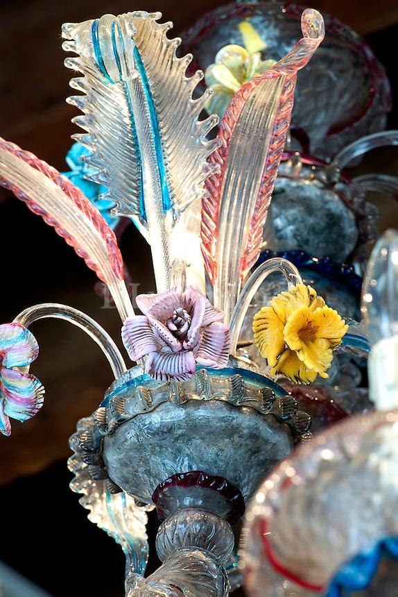 Vintage colorful chandelier