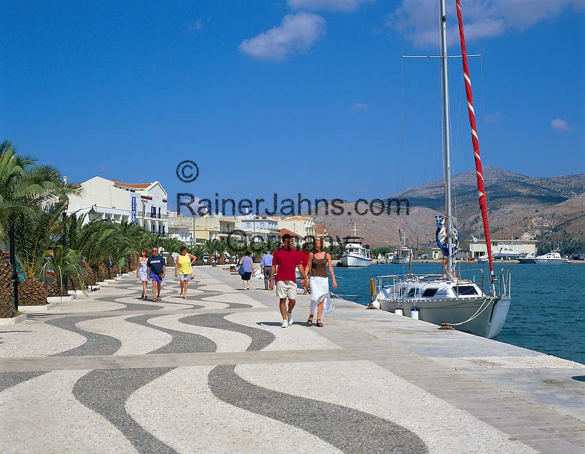 Greece, Cephalonia (Ionian island), Argostoli: Harbour, Promenade | Griechenland, Kefalonia (Ionische Insel), Argostoli: Hafen, Promenade