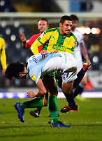 Blackburn Rovers' Lewis Travis is wrestled to the ground by West Bromwich Albion's Jake Livermore who was subsequently red carded<br /> <br /> Photographer Richard Martin-Roberts/CameraSport<br /> <br /> The EFL Sky Bet Championship - Blackburn Rovers v West Bromwich Albion - Tuesday 1st January 2019 - Ewood Park - Blackburn<br /> <br /> World Copyright &copy; 2019 CameraSport. All rights reserved. 43 Linden Ave. Countesthorpe. Leicester. England. LE8 5PG - Tel: +44 (0) 116 277 4147 - admin@camerasport.com - www.camerasport.com