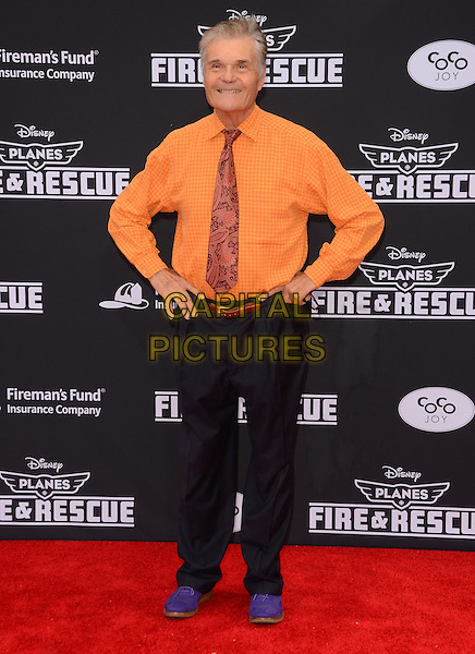 15 July 2014 - Hollywood, California - Fred Willard. Arrivals for the premiere of Disney's &quot;Planes: Fire and Rescue&quot; held at the El Capitan Theater in Hollywood, Ca. <br /> CAP/ADM/BT<br /> &copy;BT/ADM/Capital Pictures