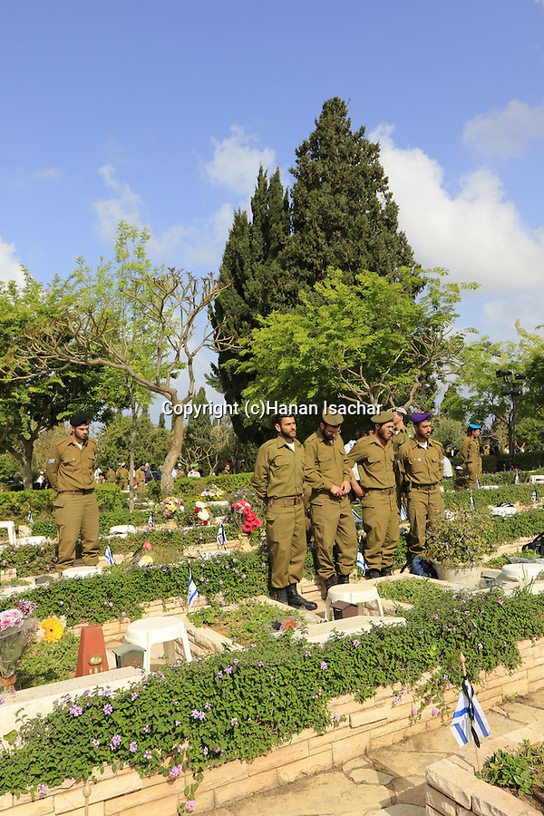 Israel, Tel Aviv, Memorial Day in Kiryat Shaul Military Cemetery