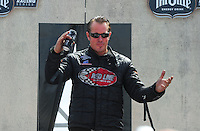 Aug. 7, 2011; Kent, WA, USA; NHRA funny car driver Jeff Diehl during the Northwest Nationals at Pacific Raceways. Mandatory Credit: Mark J. Rebilas-