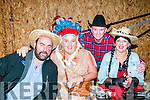 Charity Barn Dance: Pictured at the charity barn dance in aid of Fr. Jerry Browne's South African mission held on Donal Browne's farm, Mountcoal, Listowel on Saturday nigh last were Tom Mulvihill, Tracey Dowling, Fr. Jerry Browne & Betty McGrath.