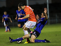 The number 24 ranked Furman Paladins took on the number 20 ranked Clemson Tigers in an inter-conference game at Clemson's Riggs Field.  Furman defeated Clemson 2-1.  Michael Gandier (18), Manolo Sanchez (8)