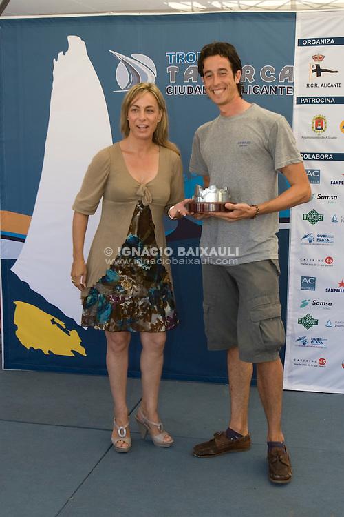 Doña Sonia Castedo .XIV TROFEO TABARCA CIUDAD DE ALICANTE.Real Club de Regatas de Alicante, 9 al 12 de Julio de 2009
