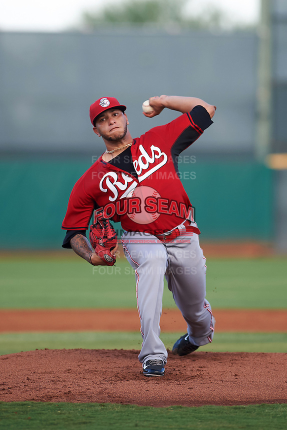 Cincinnati Reds pitcher Ismael Guillon (36) during an instructional league game against the Cleveland Indians on October 17, 2015 at the Goodyear Ballpark Complex in Goodyear, Arizona.  (Mike Janes/Four Seam Images)