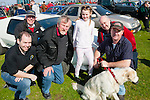 Car fans<br /> ------------<br /> Checking out the fab cars on display at the Maurice Collins Vintage day last Sanday were,Jason Brick,Chris Dyer,JP McCarthy,Ashland O'Connor,Mike Brick,with Paul O'Connor and Milo the dog