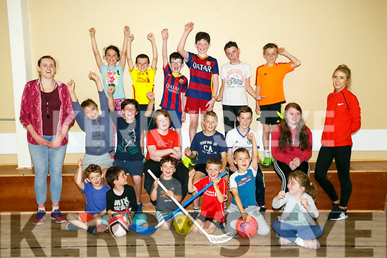 Enjoying the  Campa Óg-Ógras (Irish Summer Camp) at Ballyheigue Community Centre on Tuesday