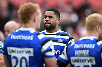 Joe Cokanasiga of Bath Rugby looks dejected after the final whistle. Gallagher Premiership match, between Gloucester Rugby and Bath Rugby on April 13, 2019 at Kingsholm Stadium in Gloucester, England. Photo by: Patrick Khachfe / Onside Images