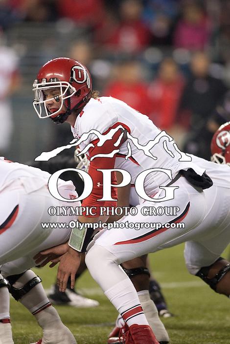 NOV 10, 2012:  Utah's Travis Wilson against Washington.  Washington defeated Utah  34-15 at CenturyLink Field in Seattle, WA...