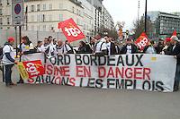 Manifestation pour sauver les emplois de Ford Europe ‡ Bercy ‡ Paris, le 22/02/2017.