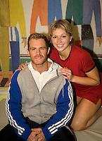 15-12-07, Netherlands, Rotterdam, Sky Radio Masters, Michaella Krajicek   met haar nieuwe coach Allister McCow