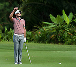 Kyle Stanley in action during Round 1 of the CIMB Asia Pacific Classic 2011.  Photo © Andy Jones / PSI for Carbon Worldwide