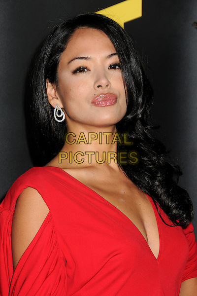 STEPHANIE JACOBSEN .2011 G'Day USA Los Angeles Black Tie Gala held at the Hollywood Palladium, Hollywood, California, USA, .22nd January 2011..portrait headshot  low cut   red  .CAP/ADM/BP.©Byron Purvis/AdMedia/Capital Pictures.