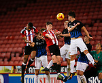 George Cantrill of Sheffield Utd scores the second goal during the U18 Professional Development League 2 play off semi final match at  Bramall Lane, Sheffield. Picture date: April 21st 2017. Pic credit should read: Simon Bellis/Sportimage
