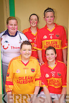 Some of the ladies from Valentia who took part in the football blitz in Portmagee at the weekend were front l-r; Enya O'Connor, Susan O'Sullivan, back l-r; Kayleigh O'Shea, Edel O'Sullivan & Rebecca Curran.