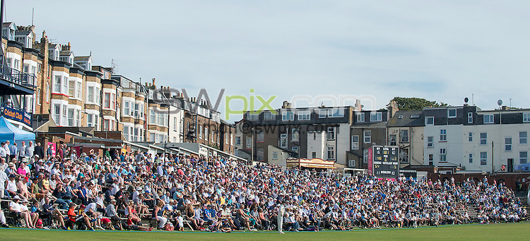 Picture by Allan McKenzie/SWpix.com - 23/08/2016 - Cricket - Specsavers County Championship - Yorkshire County Cricket Club v Nottinghamshire County Cricket Club - North Marine Road, Scarborough, England - Full house crowds of supporters at Scarbrorough's North Marine Road ground.
