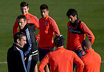 Head coach Gary Neville jokes with the players during the training session - UEFA Champions League -  Official pre match Training Session and press conference - Valencia CF vs Lyon  - Paterna Training Ground - Valencia - Spain - 8th December 2015 - Pic David Aliaga/Sportimage