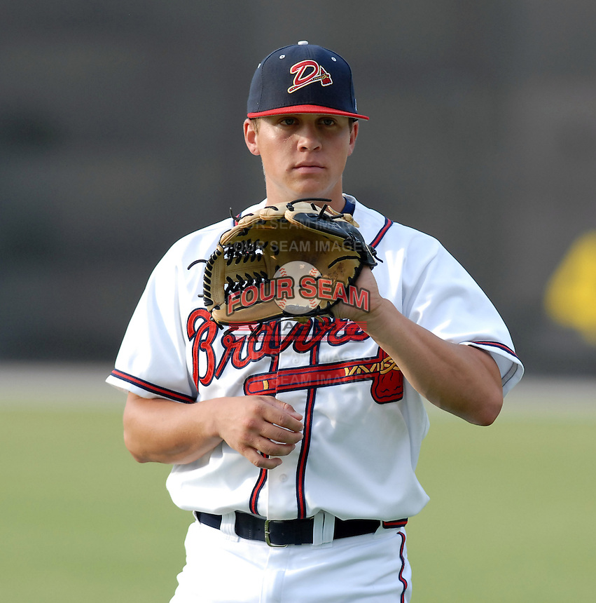 15 July 2006: Pitcher Kris Medlen (17) of the Danville Braves, the Atlanta Braves' affiliate of the rookie Appalachian League, in a game against the Burlington Indians at Dan Daniel Park in Danville, Va. (Tom Priddy/Four Seam Images)