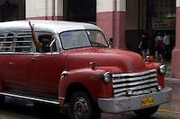 red Ford oldtimer, american car in Havana, Cuba