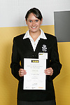 Girls Gym Aerobics winner Honor Lock. ASB College Sport Young Sportperson of the Year Awards 2007 held at Eden Park on November 15th, 2007.