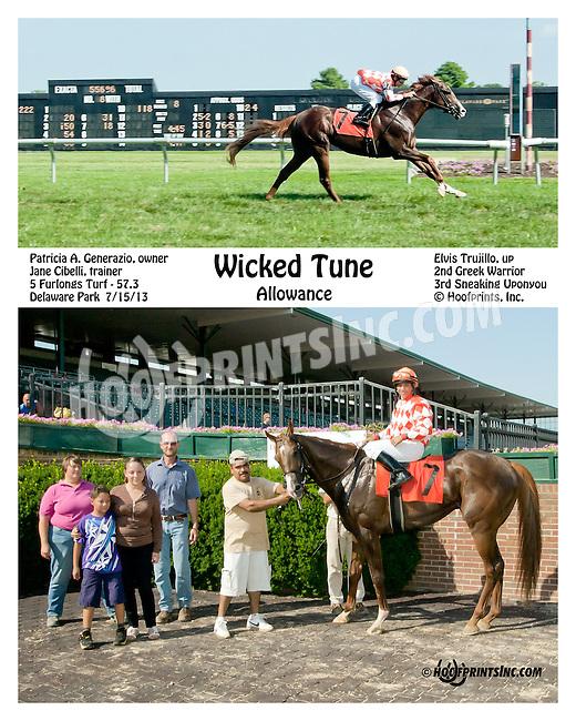 Wicked Fleet winning at Delaware Park on 7/15/13