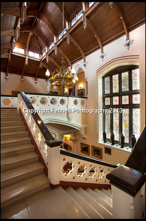 BNPS.co.uk (01202) 558833<br /> Picture: FennellPhotography/BNPS<br /> <br /> ****Please use full byline****<br /> <br /> Yours for &pound;5.5 million - A Downton Abbey of your own...<br /> <br /> Stunning staircase.<br /> <br /> Lover's of the hit tv series now have the chance to buy into the lifestyle of the Grantham's, after this very similar looking property has come on the market in the heart of Ireland.<br /> <br /> Stunning Tulira Castle, Co Galway, dates back to the medieval times has emerged for sale for &pound;5.5 million.<br /> <br /> The enormous castle sits in 250 acres of rolling countryside in the village of Ardrahan in County Galway, Ireland and is so idyllic it has been home to the same family for the last two decades.<br /> <br /> It is currently owned by Ruud and Femmy Bolmeijer who are looking to downsize.