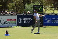 Zander Lombard (RSA) in action on the 2nd during Round 3 of the ISPS Handa World Super 6 Perth at Lake Karrinyup Country Club on the Saturday 10th February 2018.<br /> Picture:  Thos Caffrey / www.golffile.ie<br /> <br /> All photo usage must carry mandatory copyright credit (&copy; Golffile | Thos Caffrey)