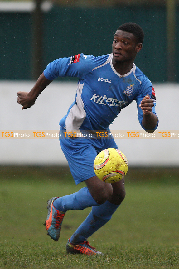 AJ Adelekan of Redbridge during Redbridge vs Romford, Ryman League Divison 1 North Football at Oakside Stadium, Ilford, England on 20/02/2016