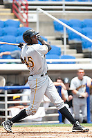 Calvin Anderson (45) of the Bradenton Marauders during a game vs. the Dunedin Blue Jays May 16 2010 at Dunedin Stadium in Dunedin, Florida. Bradenton won the game against Dunedin by the score of 3-2.  Photo By Scott Jontes/Four Seam Images