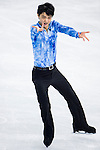 Yuzuru Hanyu of Japan compete in the Short Program Men during the 2014 Sochi Olympic Winter Games at Iceberg Skating Palace on February 6, 2014 in Sochi, Russia. Photo by Victor Fraile / Power Sport Images