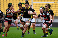 Sanita Levave of Wellington in action during the Farah Palmer Cup - Wellington Pride v Counties Heat at Westpac Stadium, Wellington, New Zealand on Sunday 15 September 2019. <br /> Photo by Masanori Udagawa <br /> www.photowellington.photoshelter.com