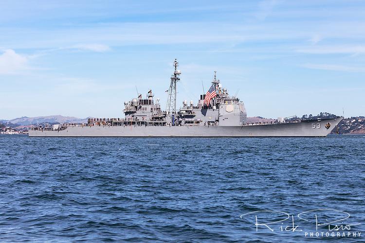 Ticonderoga Class Cruiser USS Mobile Bay  on San Francisco Bay.