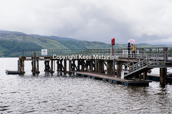 UK, Scotland,June 2012..Scotland is a beautiful country full of green rolling hills, sharp harsh peaks and dark blue lochs..Pier on Loch Lomond..Photo Kees Metselaar