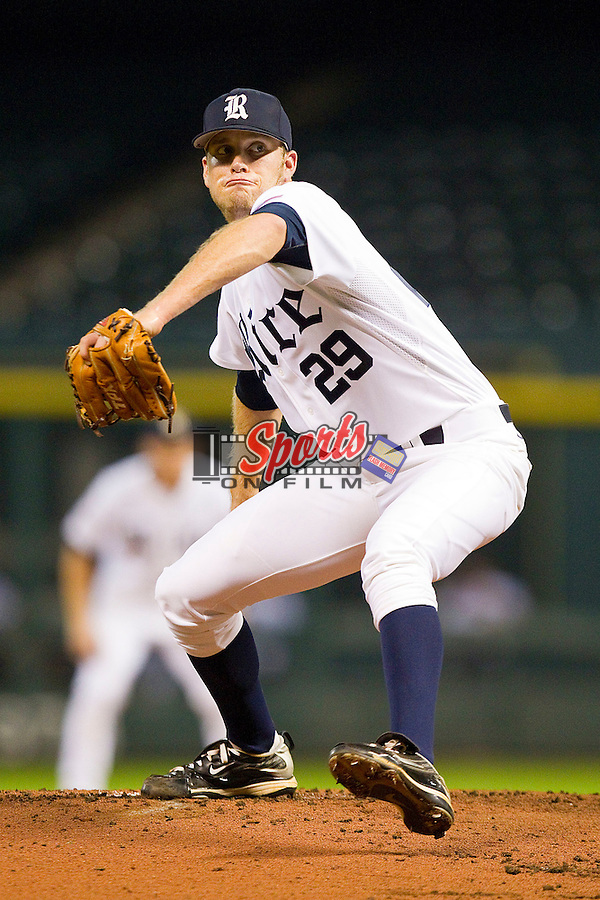Starting pitcher Matthew Reckling #29 of the Rice Owls in action against the Kentucky Wildcats at Minute Maid Park on March 4, 2011 in Houston, Texas.  Photo by Brian Westerholt / Four Seam Images