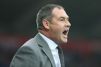 Swansea City manager Paul Clement shouts instructions onto the field during the Premier League match between Swansea City and Huddersfield Town at The Liberty Stadium, Swansea, Wales, UK. Saturday 14 October 2017