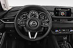 Car pictures of steering wheel view of a 2018 Mazda Mazda6 Sport 4 Door Sedan