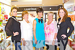 LANCOME: Helen Paker Lanco?me consultant for CH Chemists giving a demonstration  at the Lancome open night at CH Chemists, Tralee on Thursday l-r: Colette O'Shea, Ann Cahill, Helen Paker, Dierdre O'Mahony and Katie Crowley.