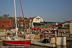 Shopping and dining on Bannister Wharf, Newport, Narragansett Bay, RI