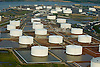 Aerial view of the oil terminals in north jersey