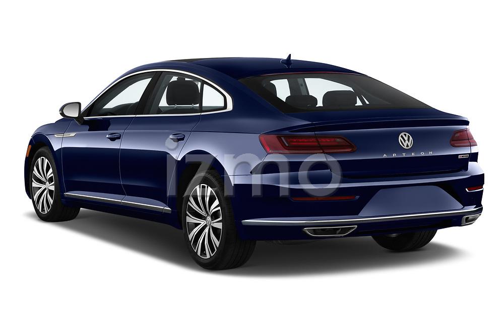 Car pictures of rear three quarter view of a 2019 Volkswagen Arteon SEL 5 Door Hatchback angular rear