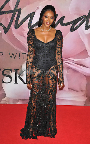 Naomi Campbell at the Fashion Awards 2016, Royal Albert Hall, Kensington Gore, London, England, UK, on Monday 05 December 2016. <br /> CAP/CAN<br /> ©CAN/Capital Pictures /MediaPunch ***NORTH AND SOUTH AMERICAS ONLY***