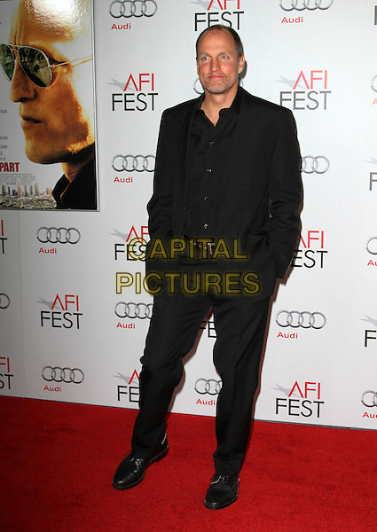 """Woody Harrelson.AFI Fest 2011  Premiere Of """"Rampart"""" Held At Grauman's Chinese Theatre, Hollywood, California, USA..November 5th, 2011.full length black suit hands in pockets .CAP/ADM/KB.©Kevan Brooks/AdMedia/Capital Pictures."""