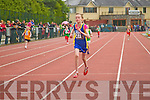 Mary Courntey (Spa Muckross) wins the girls under 10 200m heats at the Kerry Community Games finals at Castleisland on Saturday.