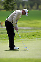 Richard Green takes his putt on the 8th green during the third round of the Irish Open on 19th of May 2007 at the Adare Manor Hotel & Golf Resort, Co. Limerick, Ireland. (Photo by Eoin Clarke/NEWSFILE).