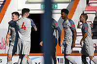 Ben Woodburn of Liverpool left is congratulated on scoring the first goal by Corey Whelan of Liverpool during AFC Bournemouth Under-21 vs Liverpool Under-21, Premier League Cup Football at the Vitality Stadium on 24th February 2019