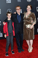 Danny Elfman, Mali Elfman &amp; Oliver Elfman at the world premiere for &quot;Justice League&quot; at The Dolby Theatre, Hollywood. Los Angeles, USA 13 November  2017<br /> Picture: Paul Smith/Featureflash/SilverHub 0208 004 5359 sales@silverhubmedia.com