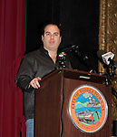 Kenneth Del Vecchio at Press Conference 1/13/15 and shooting the movie Price For Freedom which tells the story of an Iranian Jew who worked to counter oppression after the 1979 Islamic Revolution was shot in Orange County and Italy and premieres May 29, 2015 at the Hoboken Film Festival, Middletown, NY. (Photo by Sue Coflin/Max Photos)